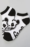 Men's The Crimson Panda No Show Socks in White, So