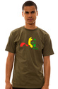 Men&#39;s The Original Panda Tee in Military Green, T-