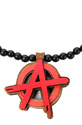 Men's The Anarchy Pendant Necklace in Black & Red,