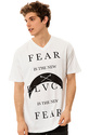 Men&#39;s The Fear, The New Black V-Neck Tee in White,