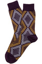 Men's The Sidewinder Socks in Purple, Socks