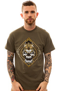 Men&#39;s The Curse Tee in Army Green, T-shirts