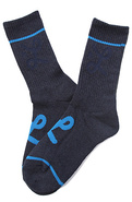 Men's The One Stripe Crew Socks in Navy Heather, S