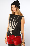 Women's The Skullhand Tee in Black, T-shirts