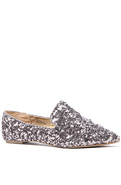 Women's The Lotus Glitter Flat in Pewter, Shoes