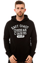 Men's The East Coast Hoodie in Black and White, Sw