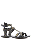 Women's The Kayden Sandal in Black, Shoes