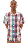 Men's The Bon Voyage SS Buttondown Shirt in Red, B