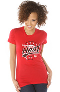 Women's The Miami Heat 2013 Vintage Tee in Red, T-