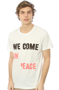 Men's The We Come in Peace Bruce Tee in White, T-s