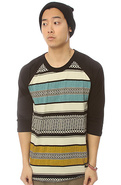 Men&#39;s The Chumash Raglan in Black, Tops