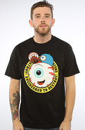 Men's The Keep Watch Cartoon Crest Tee in Black, T