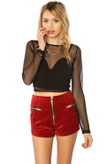 Women's The Axl Shorts in Red Velvet, Shorts