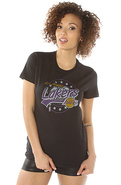 Women's The LA Lakers 2013 Vintage Tee in Black, T
