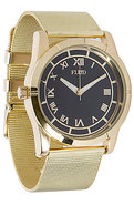 Men&#39;s The Moment Watch in Gold Mesh, Watches