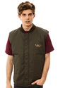 Men's The Condor Vest in Army Green, Vests