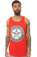 Men's The Luxury Propoganda Tank in Red, Tank Tops