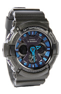 Men's The GA 200 Watch in Black & Teal, Watches