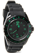 Men&#39;s The Longitude Watch in Black &amp; Green, Watche