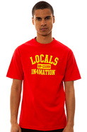 Men's The Locals Tee in Red, T-shirts