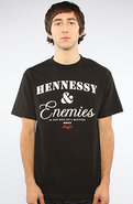Men's The Hennessey & Enemies Tee in Black, T-shir