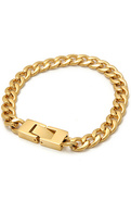 Men's The Mr. Curb Chain Bracelet in Gold, Jewelry