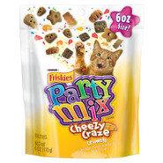 Purina Friskies Party Mix Cheezy Craze Crunch Cat 