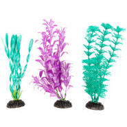 Top Fin Pearlized Plastic Plants - 3 pack