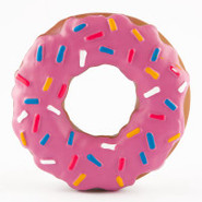 Grreat Choice Frosted Pink Donut Dog Toy