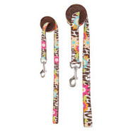 Top Paw&reg Chloe  Multi Flower Print/Pink Leash