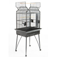 A&amp;E Open-top Victorian Bird Cage in Black