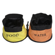 Pet Life Double Bowl Waterproof Travel Bowlsible T
