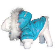 Pet Life Blue Ski Parka Dog Coat