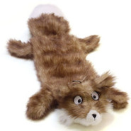 Plush Puppies Squeaker Mat Long Body Real Animal F