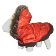 Pet Life Orange Ski Parka Dog Coat