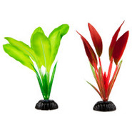 Top Fin&reg Sword Leaf Silk Plastic Plants