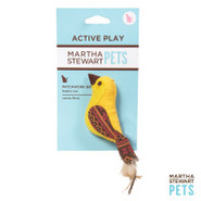 Martha Stewart Yellow Fair Isle Bird Cat Toy