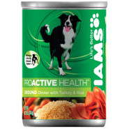 Iams Ground Savory Dinner with Juicy Turkey & Rice