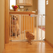Top Paw Extra-Wide Metal Walk Through Pet Gate
