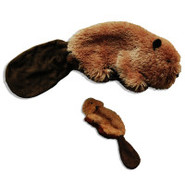 KONG&reg Plush Stuffing-Free Beaver Dog Toys