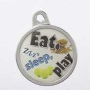 TagWorks Personalized Dome   Eat, Sleep, Play   Pe