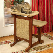 Mr. Herzher's Deluxe Double Seat Wooden Cat Perch