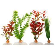 Red Ludwigia, Hairgrass and Ambulia Artificial Pla