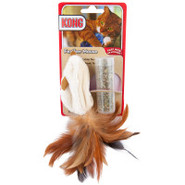 KONG&amp;reg Feathered Mouse Refillable Catnip Toy