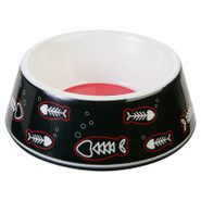 Whisker City Melamine Fish Bone Cat Bowl