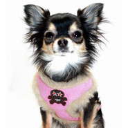 Hip Doggie Fur Skull Harness Vest For Dogs