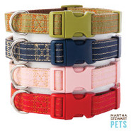 Martha Stewart Pets Coated Linen Adjustable Collar
