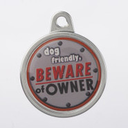 TagWorks Personalized   Dog Friendly, Beware of Ow