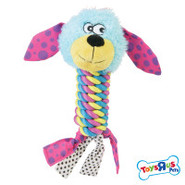 Toys R Us Pets Head-on-Rope w/Tassles Tug Toy