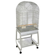 A&amp;E Dome-top Bird Cage with Stand in Platinum
